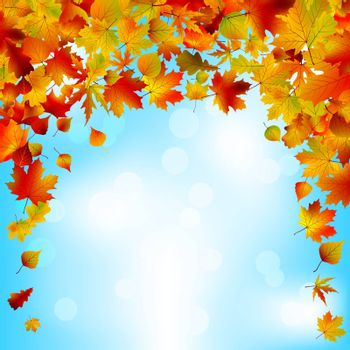 Autumnal sky bright design. EPS 8 vector file included