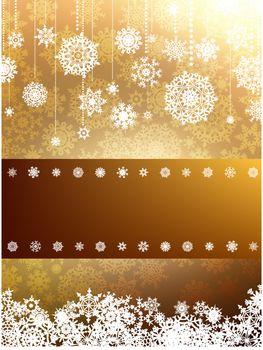 Elegant christmas background. EPS 8 vector file included