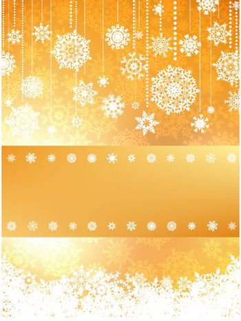 Christmas card in orange color. EPS 8 vector file included