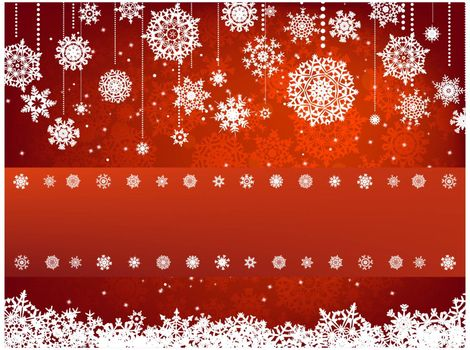 Christmas background with copyspace. All elements on separate layers. EPS 8 vector file included