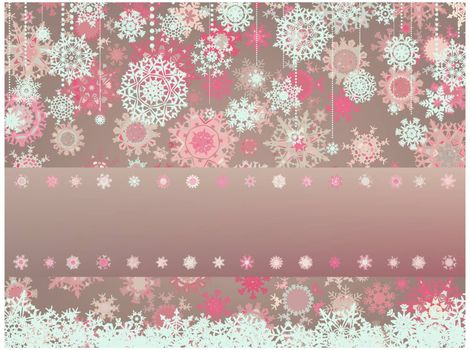 Vintage Christmas card with snowflakes. EPS 8 vector file included