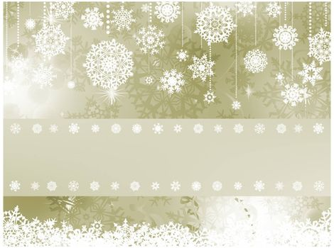 Elegant christmas background with christmas snowflake. EPS 8 vector file included