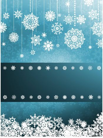 Blue background with snowflakes. EPS 8 vector file included