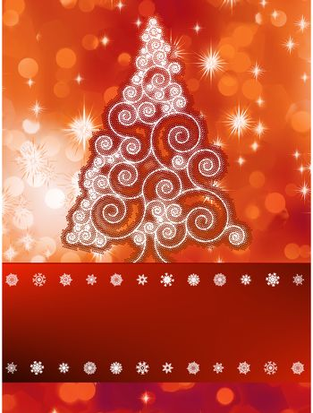 Shinny christmas tree, abstract background.  + EPS8 vector file