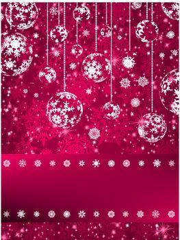Christmas balls over green bokeh. And also includes EPS 8 vector
