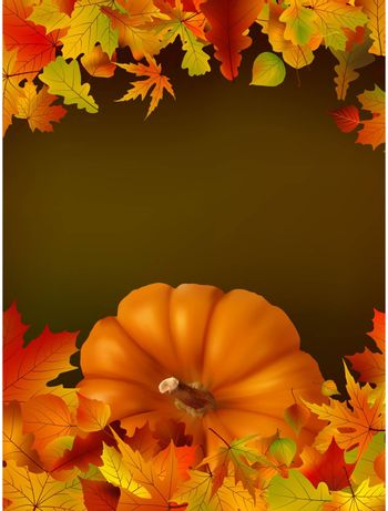 Thanksgiving template with copy space. EPS8. To see similar visit my portfolio