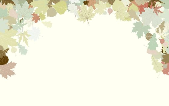 Background with frame with Autumn Leafs. Thanksgiving. EPS 8 vector file included