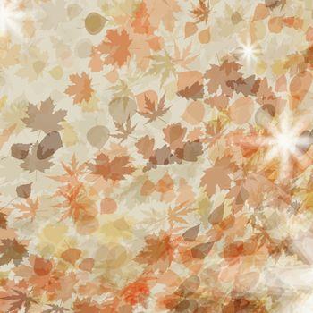 Autumn leaves. Seasonal template design. EPS 8 vector file included
