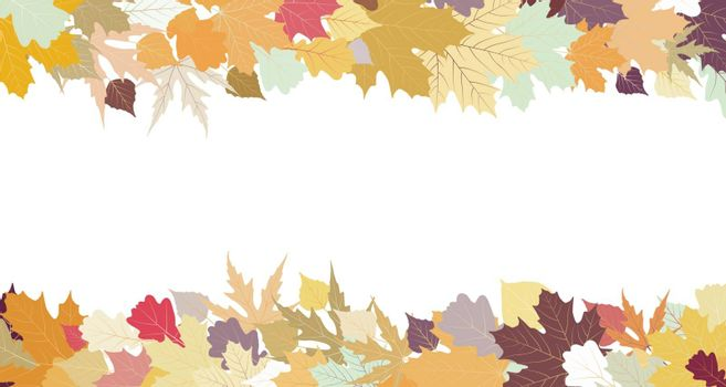 Autumn design with copy space, EPS 8 vector file included