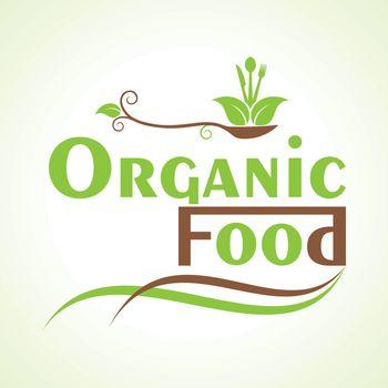 creative organic food design word concept vector