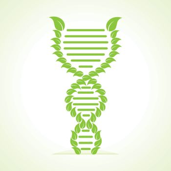 Ecology concept- leafs make a DNA strand