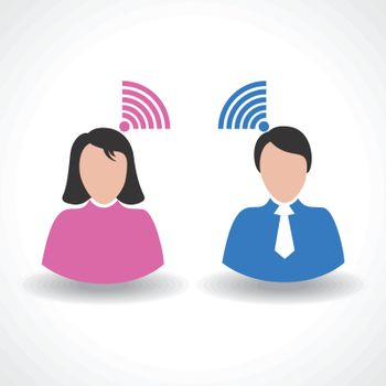 Vector Illustration of communication concept connection