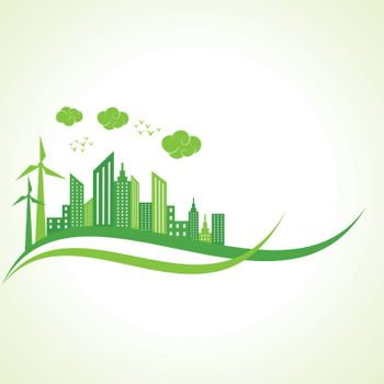 Ecology concept with abstract design illustration