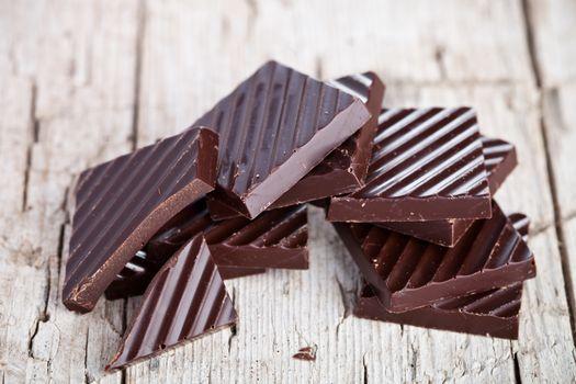 chocolate sweets closeup