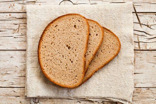 slices in rye bread