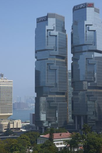 Modern architecture of the financial district of Hong Kong, China