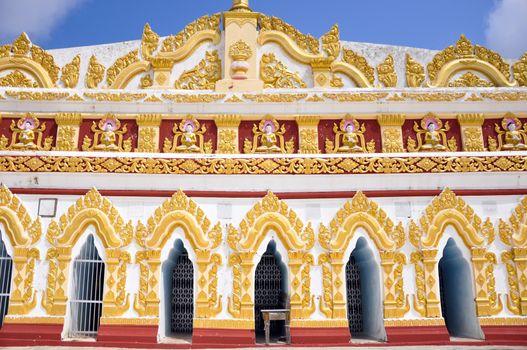 U min Thonze pagoda in Myanmar