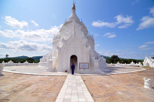 White pagoda of Hsinbyume temple, Mingun, Mandalay - Myanmar