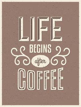 Retro Typography Coffee Poster