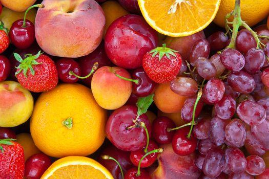 Colorful fresh fruits