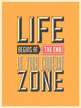 Retro Typography Inspirational Poster