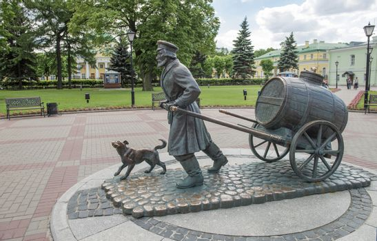 Water-carrier Monument in the Museum complex of Vodokanal in Sankt Petersburg, Russia
