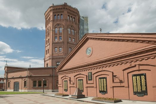 """Sankt Petersburg, Russia - May 31, 2014; The exhibition """"The Water World of Saint-Petersburg"""" is located in halls on the third, fourth and sixth floors of the Old Water Tower."""