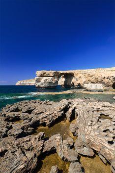 Azure Window on Gozo Malta vertical