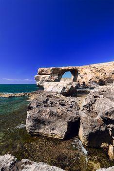 Azure Window on Gozo Malta wide angle