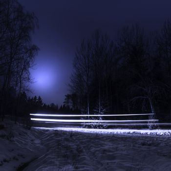 Winterlandscape by night