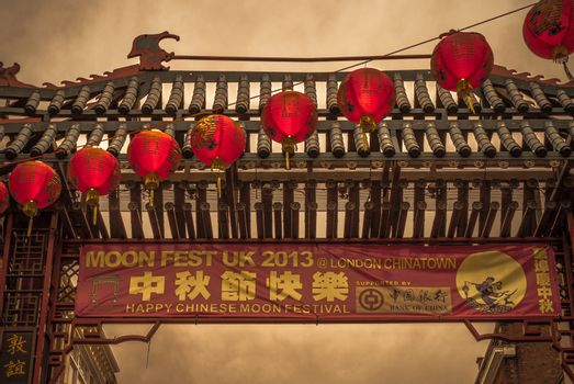 Fullmoonfestival in London, Chinatown