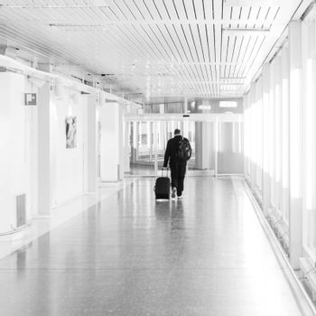 Travelling man at Arlanda airport