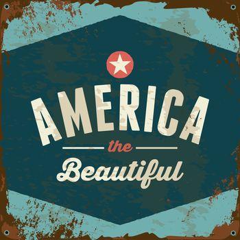 Vintage America Metal Sign