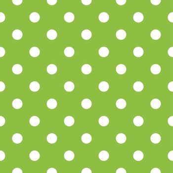 Apple green dotted seamless pattern or background. Vector