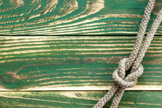 Marine rope knotted