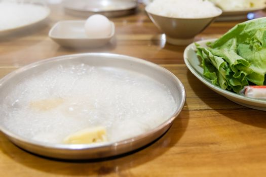 Delicious Chinese hotpot boiling