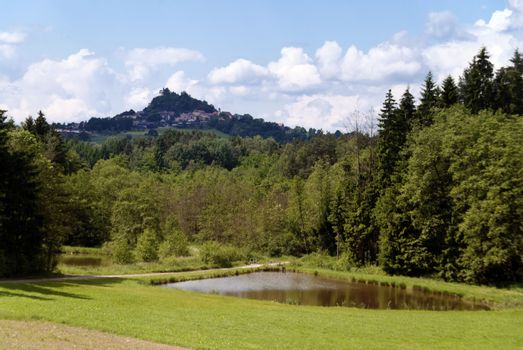 Volcano Parkstein in Upper Palatinate in Germany