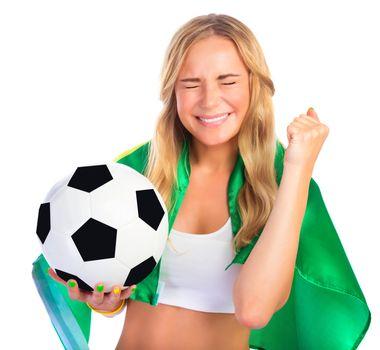 Excited Brazilian team fan