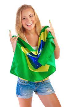 Happy football fan