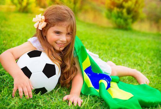 Young cheerful football fan
