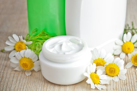 cosmetics and chamomiles
