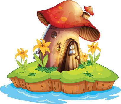 A mushroom house