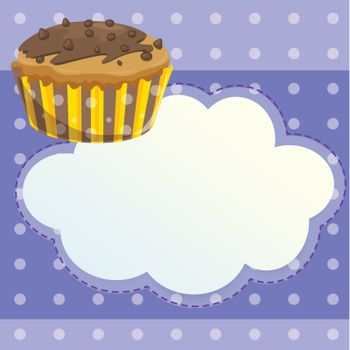 A stationery with a mocha flavored cupcake