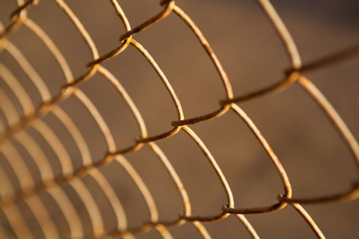 large metal grille from the fence
