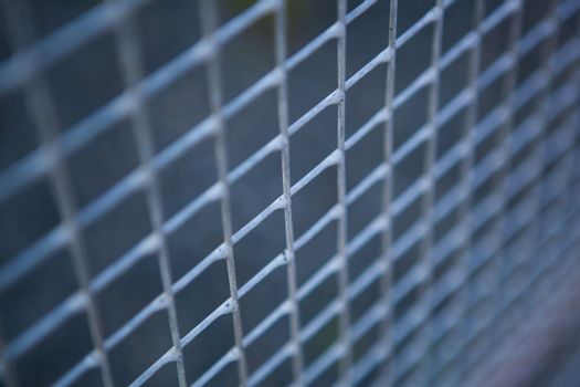 small metal grille from the fence