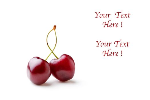 Couple Of Cherries With Text
