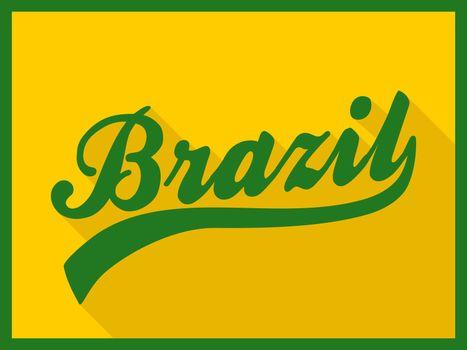 Retro Brazil Poster