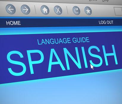 Spanish language concept.