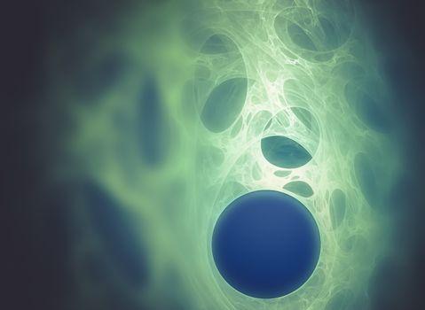 Abstract fractal texture, fiber optics concept design