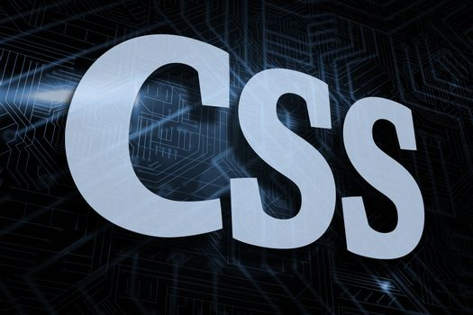 Css against futuristic black and blue background